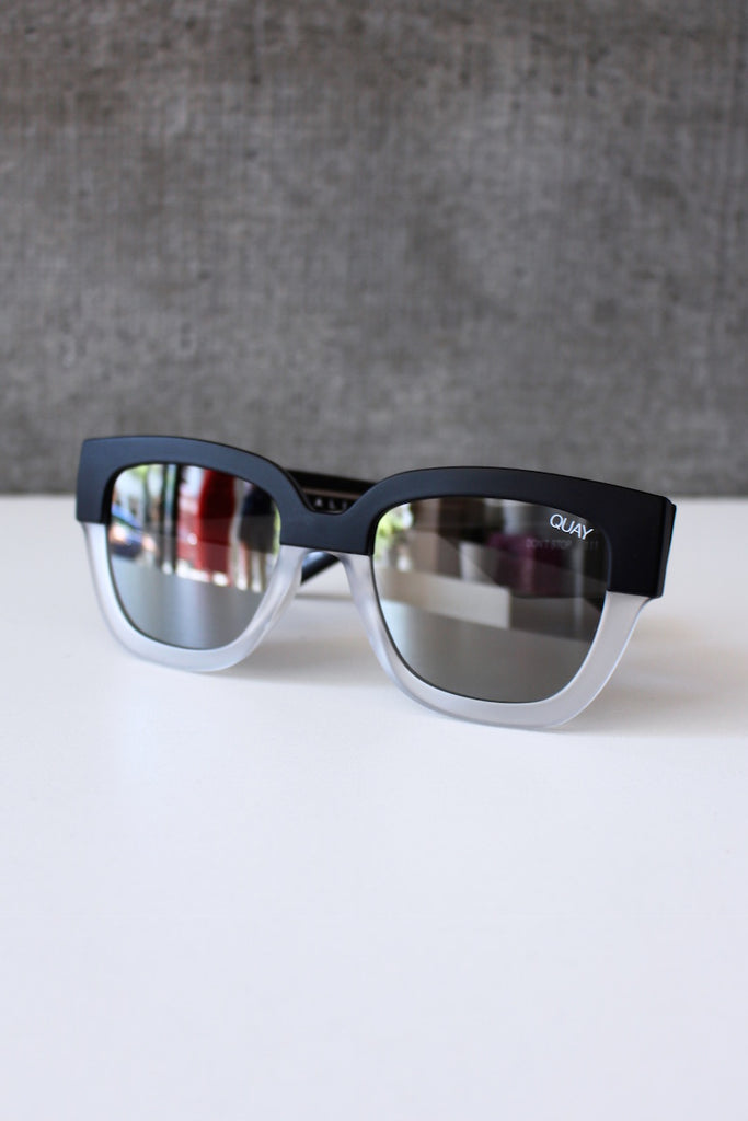 Don't Stop Sunglasses BLACK/WHITE/SILVER
