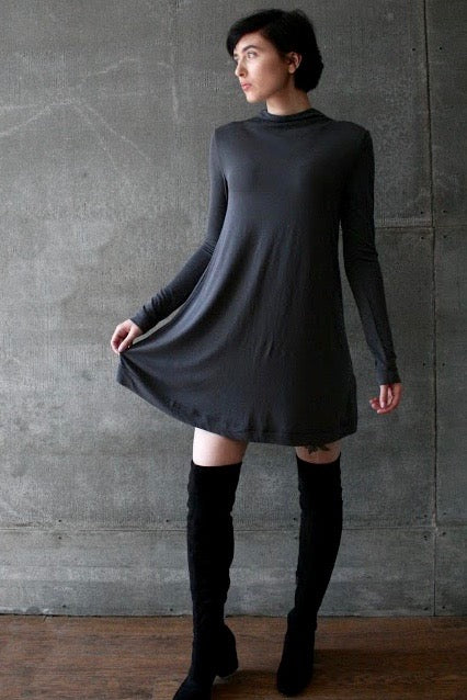 Southwest Longsleeve Dress Storm Grey