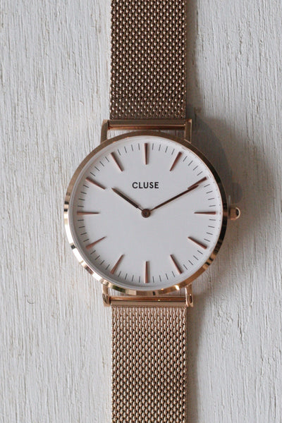 La Boheme Mesh White/Rose Gold