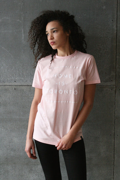 Home is Toronto Box Tee Pink