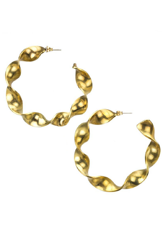 Joy Large Hoops Brass