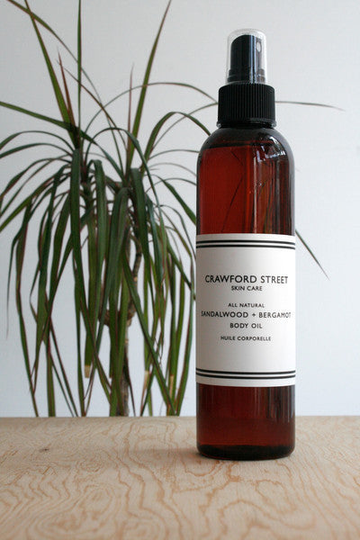 Sandalwood + Bergamot Body Oil