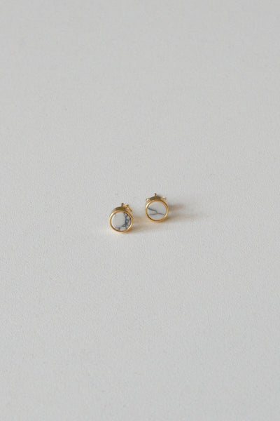 MarblexMarble Small Earrings Gold