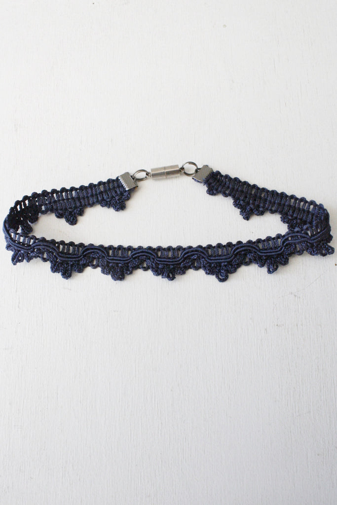 Fabric Choker Navy Blue