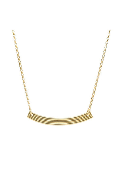 Range Bar Necklace Gold