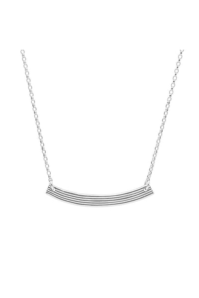 Range Bar Necklace Silver