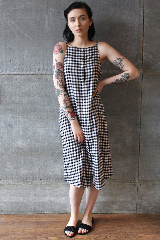 Cheap Monday Track Dress Gingham Check