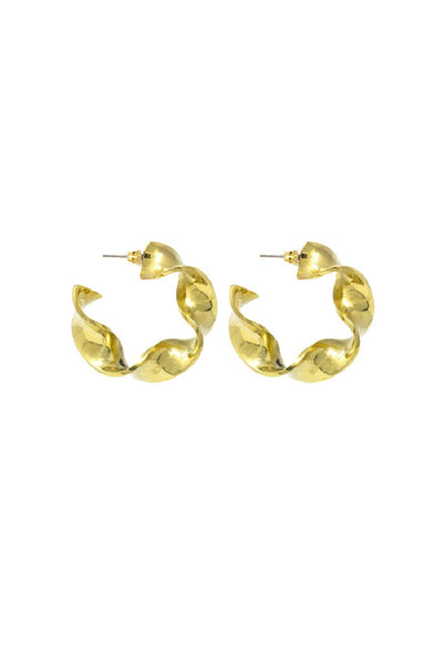 Joy Mini Hoops Brass