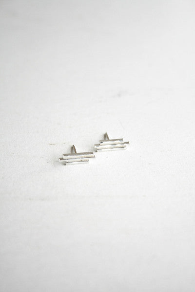 Three Stick Earring Silver
