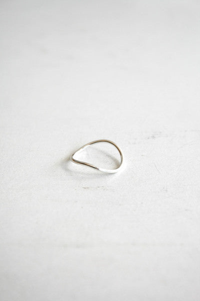 Wave Stacking Ring Silver