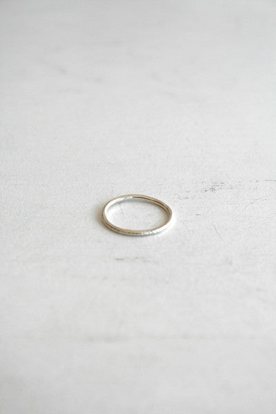 Dent Stacking Ring Silver
