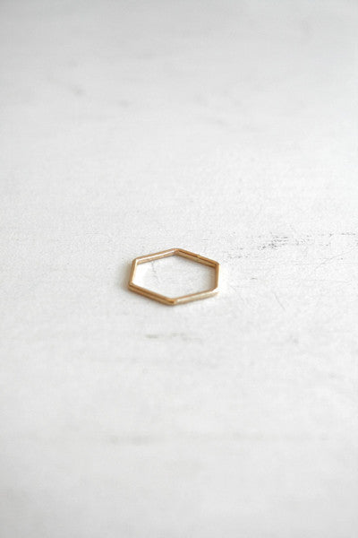 Hex Stacking Ring Gold