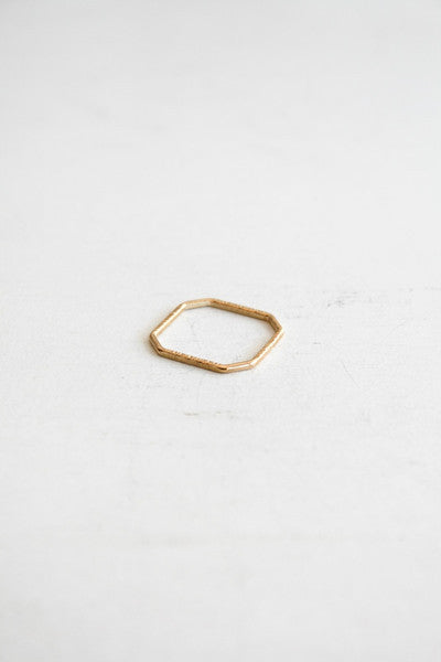 Four Corners Stacking Ring Gold