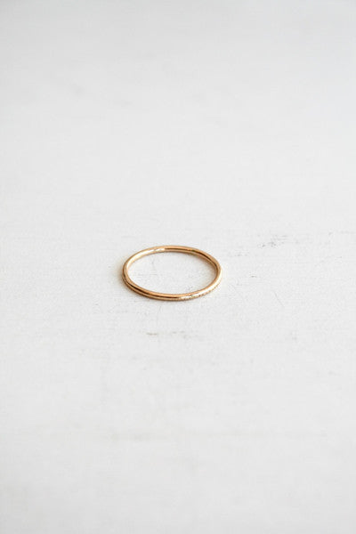 Dent Stacking Ring Gold