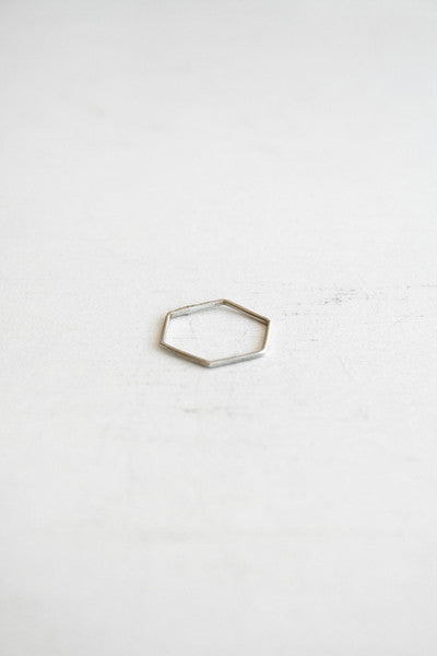 Hex Stacking Ring Silver