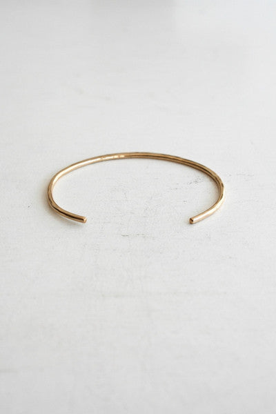 Thick Cuff Bangle Gold