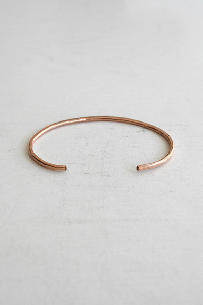 Thick Cuff Bangle Rose Gold
