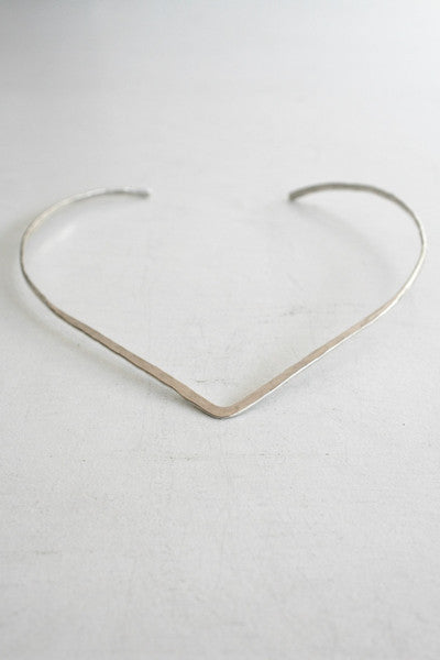 Pointed Neck Cuff Silver