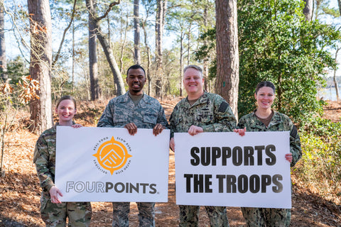 Fourpoints Bars supporting U.S. Troops with Tactical Energy Bars