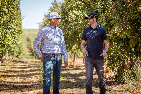 Kevin Webber of Fourpoints and Dan Martinez - California Prune Grower