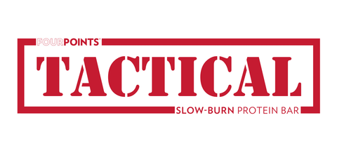 fourpoints tactical slow burn protein bar red stamp logo