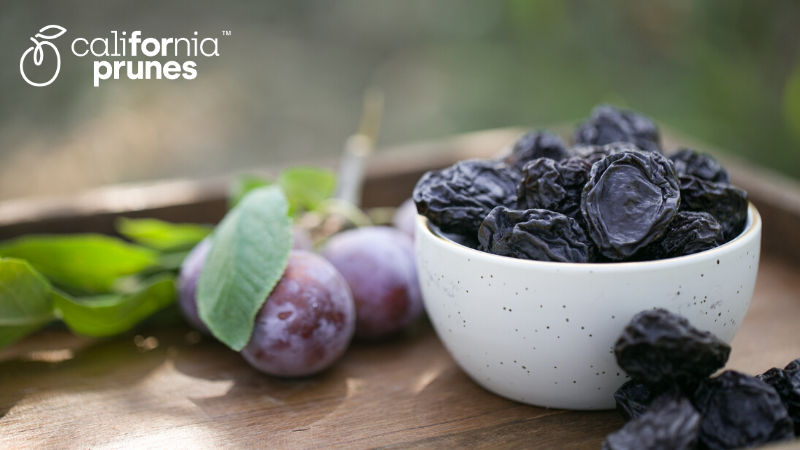 Bowl of California Prunes, the star ingredient of Fourpoints Bars.