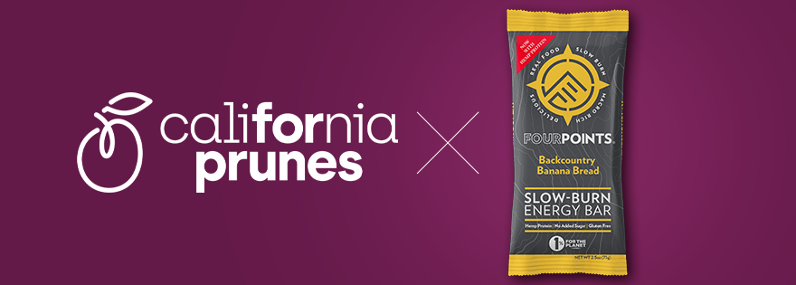 Fourpoints bars partner with California Prunes for best low-glycemic bars
