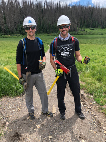 Patrick& Kevin Webber of Fourpoints Bar working on the Continental Divide Trail at Wolf Creek Pass, Colorado.