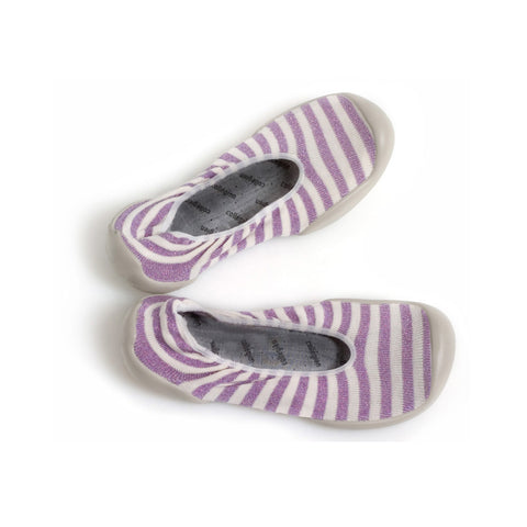 Lilac lurex stripes