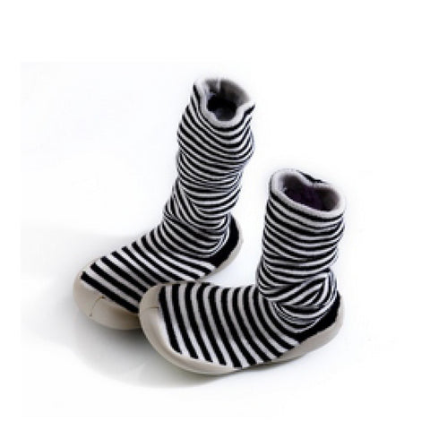 Black & White stripes knee high
