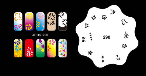 hundreds of   airbrush nail stencils 010