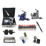 New Tattoo kit  with 2 machine CE Power Supply 40 color inks KC2H1D