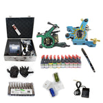 New Professional Tattoo Kit  with 2 Machine  CE Power Supply 40 Color Inks KC2H1E