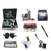 Professional Tattoo Kit  with 3 Machine  CE Power Supply 28 Color 5ML Inks KC3G1