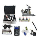 Professional Tattoo Kit with 1 Machine  LCD Tattoo Power Supply 8 Color 15ML Inks KH1B1B