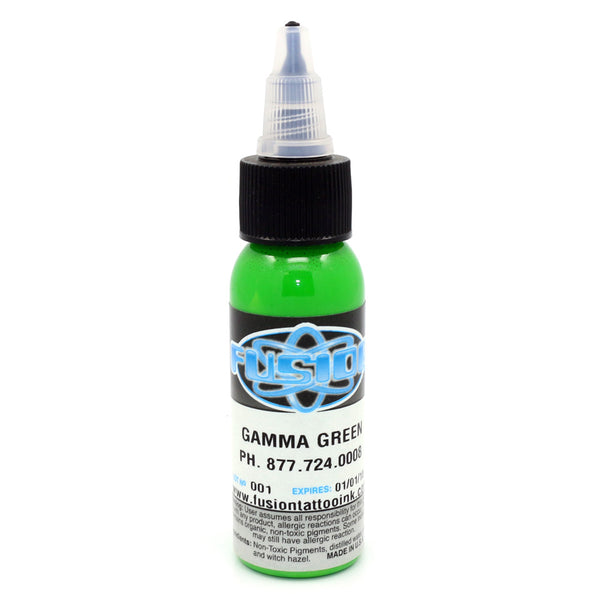 "Fusion Tattoo Ink ""Gamma Green"" 1 Oz Bottle 100% Authentic"