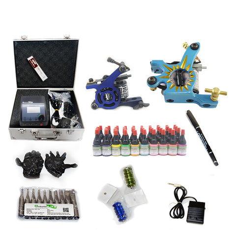 Tattoo kit with 2 Machine  CE Power Supply and 40 Color 5ML Ink KC2H1