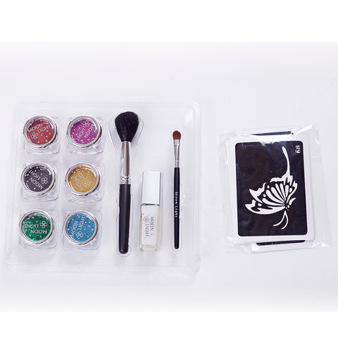 6 colors glitter tattoo kit PH-K003