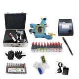 New Tattoo Kit  with 2 Machine  CE Power Supply 40 Color Inks KC1H1A
