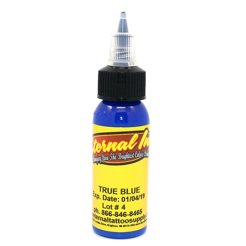 "Eternal Tattoo Ink ""True Blue"" 1 Oz Bottle 100% Authentic"