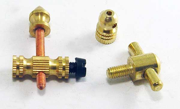 copper font and back binding post ,contact screw and cross tube fastener