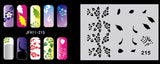 hundreds of   airbrush nail stencils 009