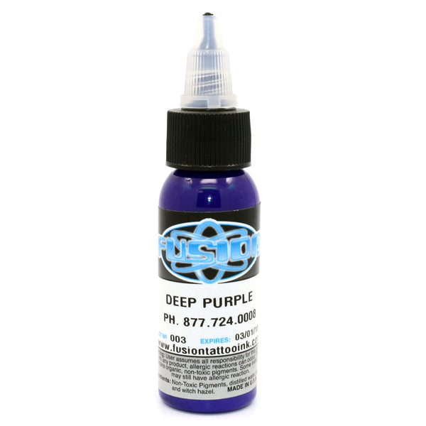 "Fusion Tattoo Ink ""Deep Purple"" 1 Oz Bottle 100% Authentic"