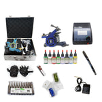 New Professional Tattoo Kit  with 2 Machine  CE Power Supply 40 Color Inks KC2C1A