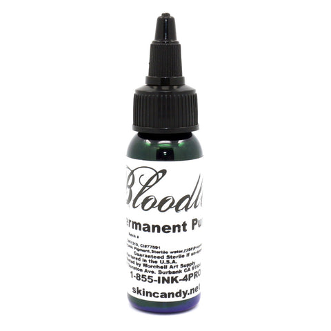 "Bloodline Tattoo Ink ""Permanent Purple"" 1 Oz Bottle 100% Authentic"