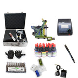 New Professional Tattoo Kit  with 1 Machine  CE Power Supply 28 Color Inks KC1G1B