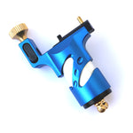 Blue Slider Rotary Tattoo Machine with RCA Cord Interface