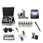 New Professional Tattoo Kit  with 2 Machine  CE Power Supply 40 Color Inks KC2C1C