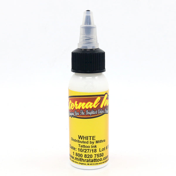"Eternal Tattoo Ink ""White"" 1 Oz Bottle 100% Authentic"