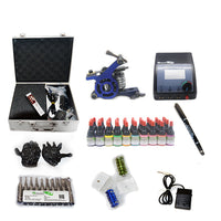 New Professional Tattoo Kit  with 2 Machine  CE Power Supply 40 Color Inks KC1H1C